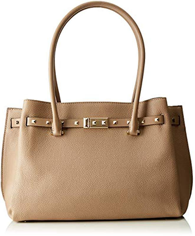 afe6f9994f24 Michael Kors. Women's Gray Large Addison Pebbled Truffle Leather Tote Bag