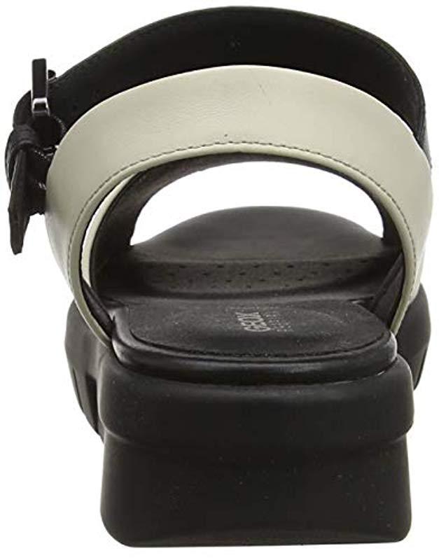 cd43cc8796d0 Geox D Wimbley Ankle Strap Sandals in Black - Lyst