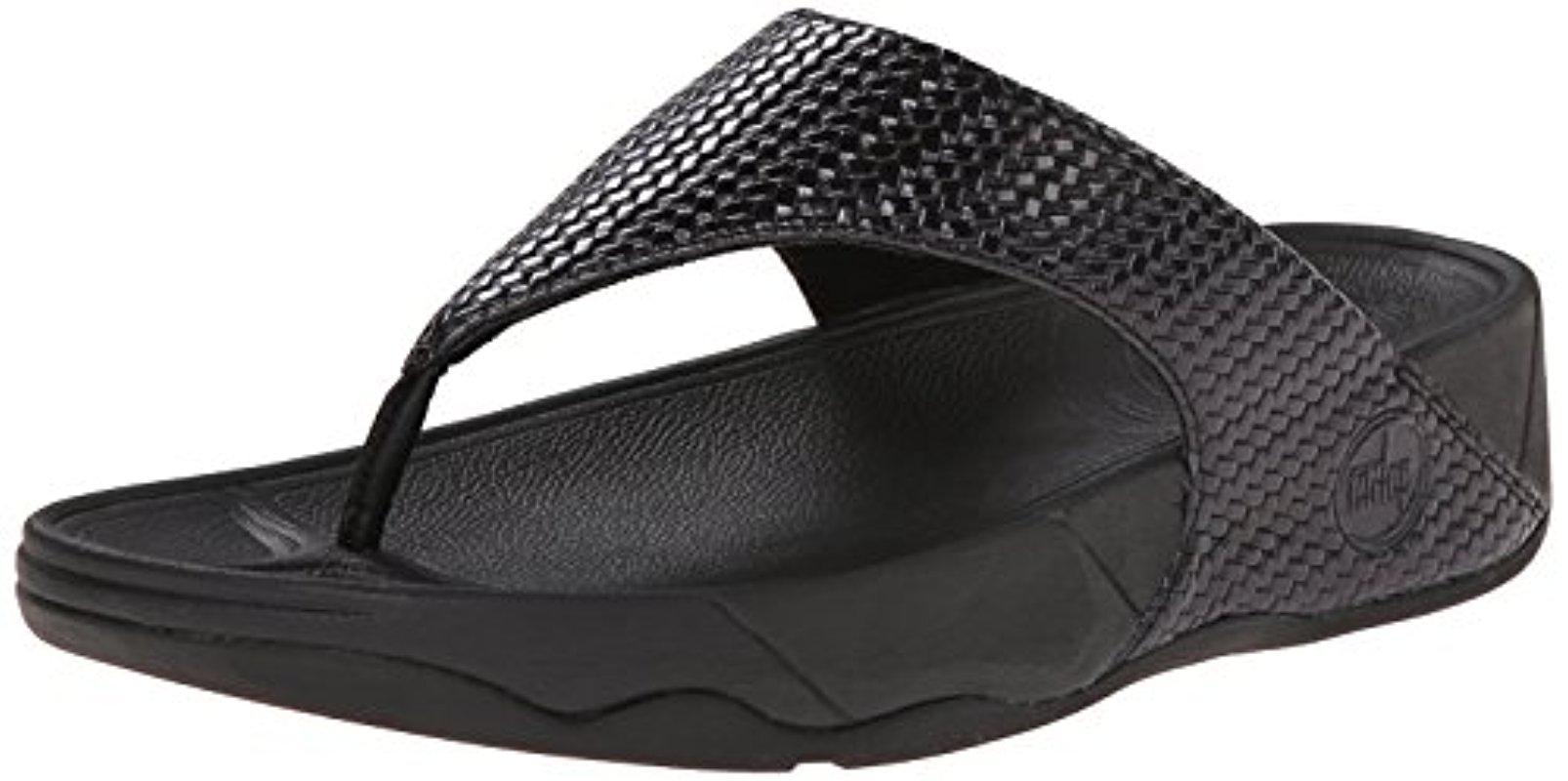 312f30df7d03a2 Lyst - Fitflop Lulu Weave Flip-flop in Black