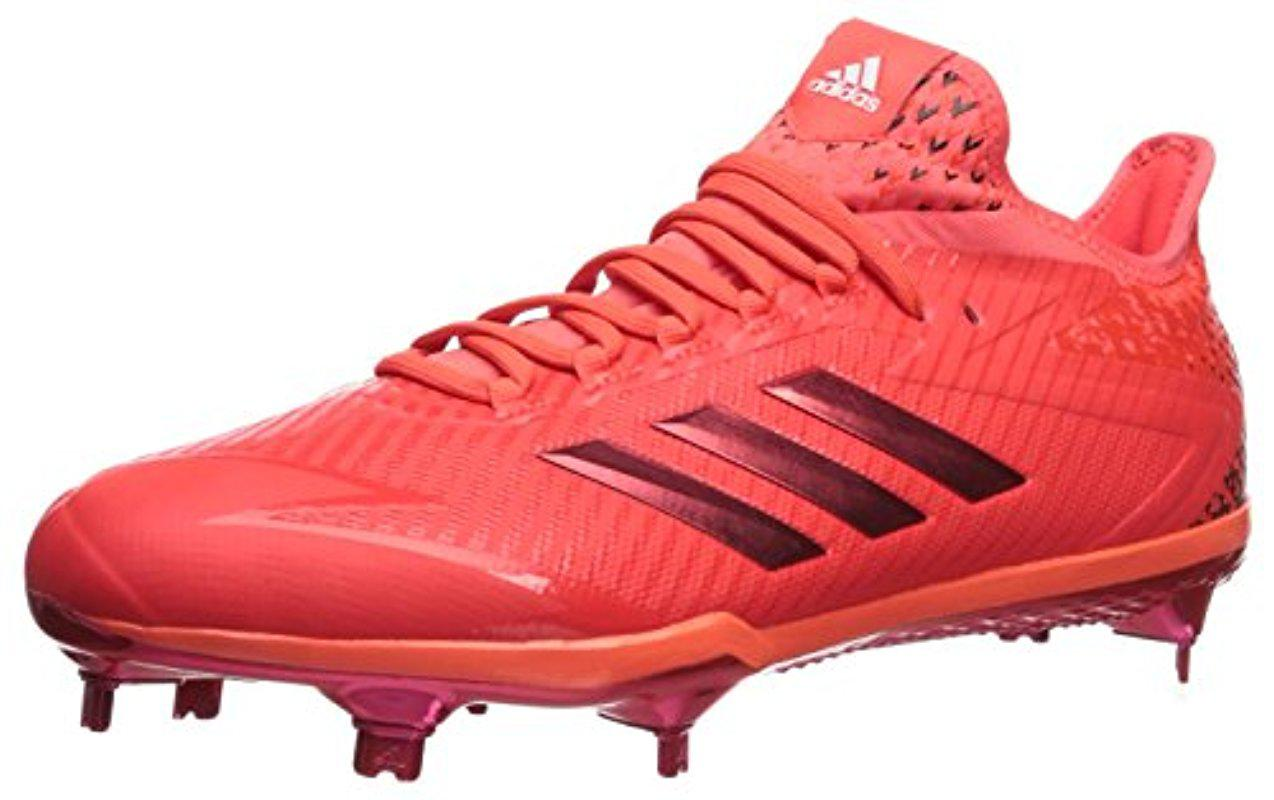 premium selection 5eccd 79ccf Lyst - adidas Adizero Afterburner 4 Baseball Shoe in Red for