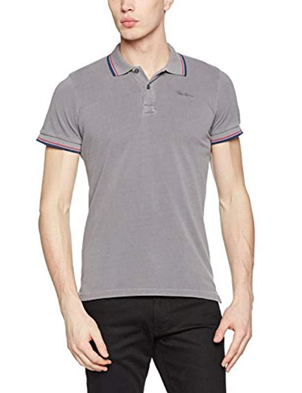 639586a9 Pepe Jeans Gulf Polo Shirt in Gray for Men - Lyst
