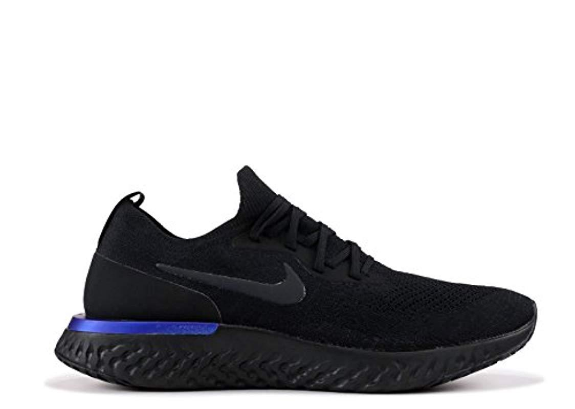 6d415b923914c Nike Epic React Flyknit Running Shoes in Black for Men - Lyst