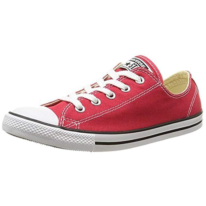db029b286df Converse All Star Dainty Ox Trainers Red white in Red - Save ...