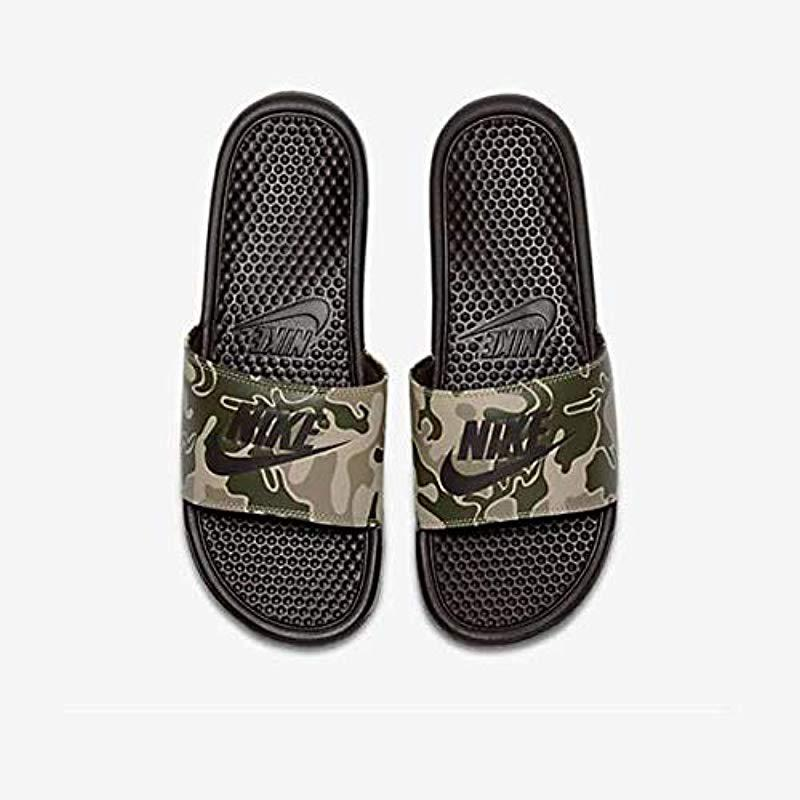51bdeddc25d7 Nike Benassi Jdi Print Fitness Shoes in Black for Men - Lyst