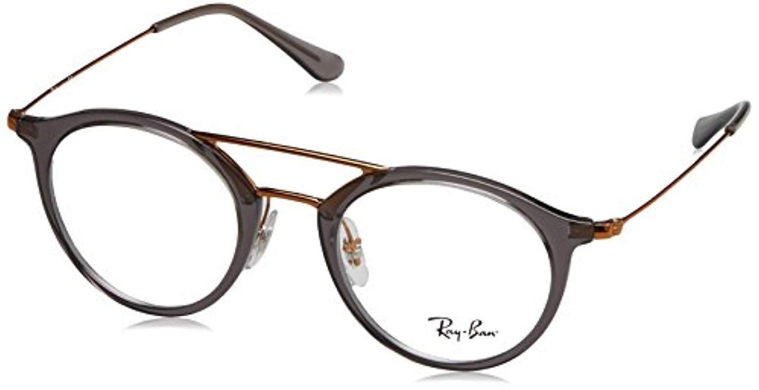 7ee0cd4f4b2 Ray-Ban. Women s Gray 0rx 7097 5633 49 Optical Frames ...