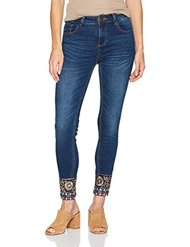 Denim Ankle In Desigual Woman Lyst Blue Papping Trouser Exotic wnftP