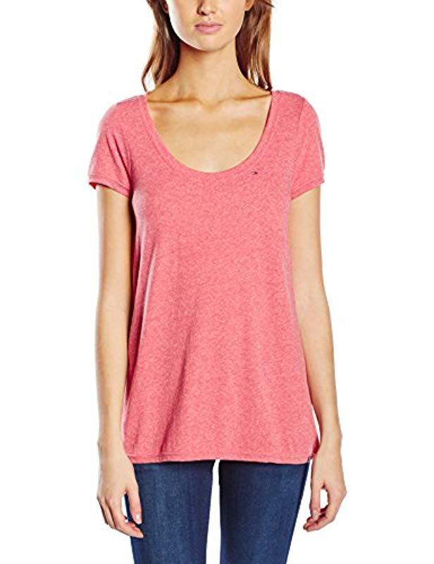 04fb2cc0 Tommy Hilfiger Original Melange Short Sleeve T-shirt in Pink - Lyst