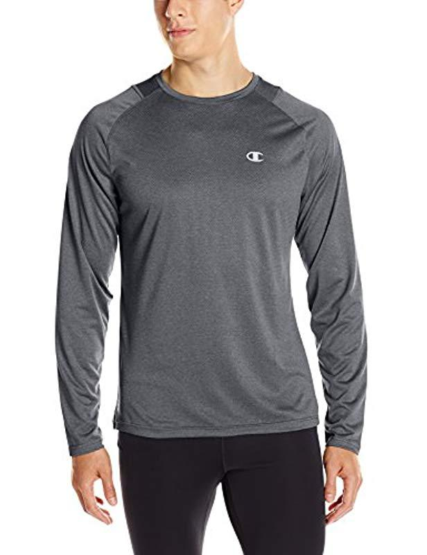 2622afb2e Lyst - Champion Double Dry Run Long-sleeve T-shirt in Gray for Men