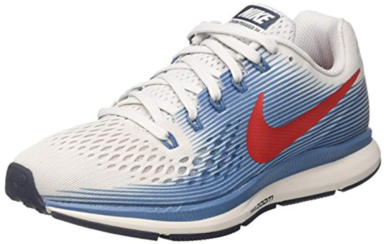 bd2e08f0e18c3 Nike Air Zoom Pegasus 34 Running Shoes in Gray for Men - Lyst