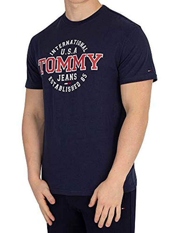 9fd26e10 Tommy Hilfiger Circular Short Sleeve T-shirt in Blue for Men - Lyst