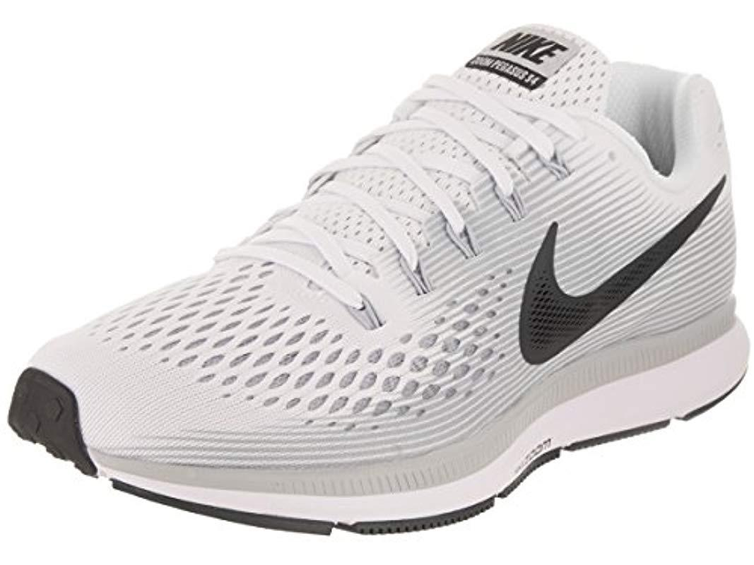 66b25892189d4 Nike Air Zoom Pegasus 34 Running Shoes White blue in White for Men ...