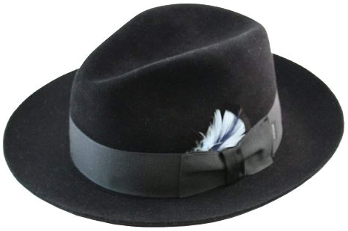 16999709baa ... spain stetson. mens blue sttson temple royal deluxe fur felt hat 21934  64e5a
