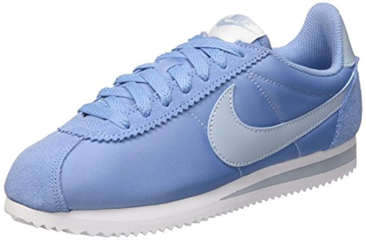 1c2f12fc53b1 ... cheap nike. womens blue s classic cortez trainers ef517 9eac0