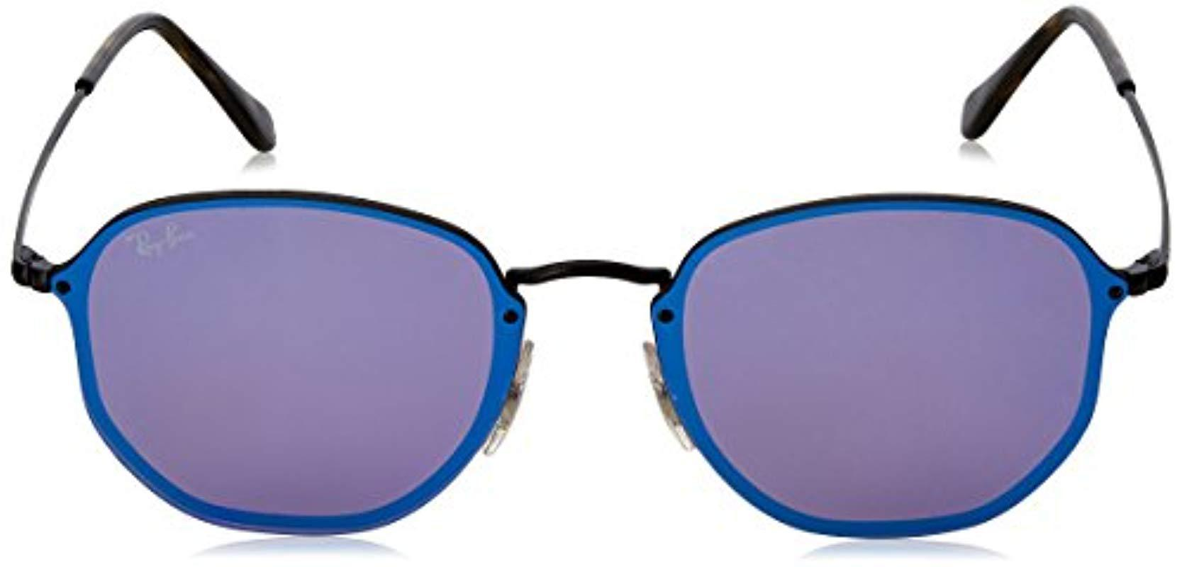 665908c6ce Ray-Ban - Blaze Hexagonal Sunglasses In Demi Gloss Black Blue Violet Mirror  Rb3579n 153. View fullscreen