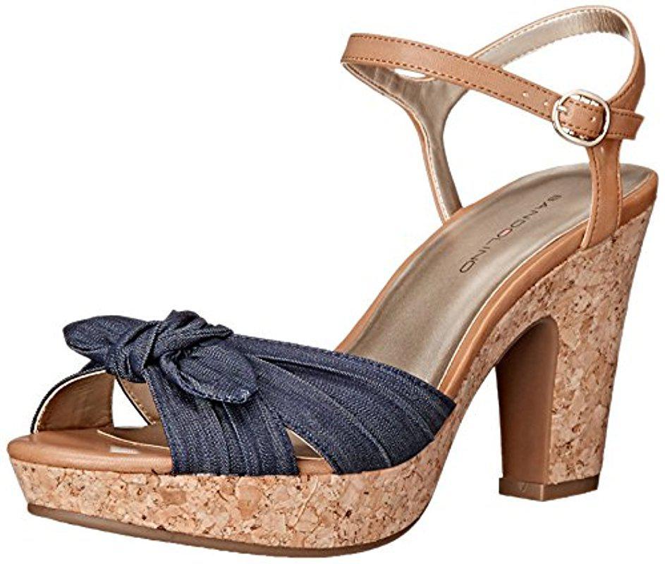 98ade352857b Lyst - Bandolino Maromisa Platform Dress Sandal in Blue