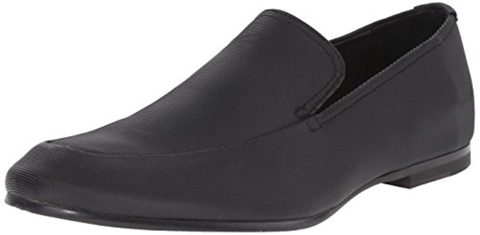 Calvin Klein. Men's Black Nicco Smooth Slip-on Loafer