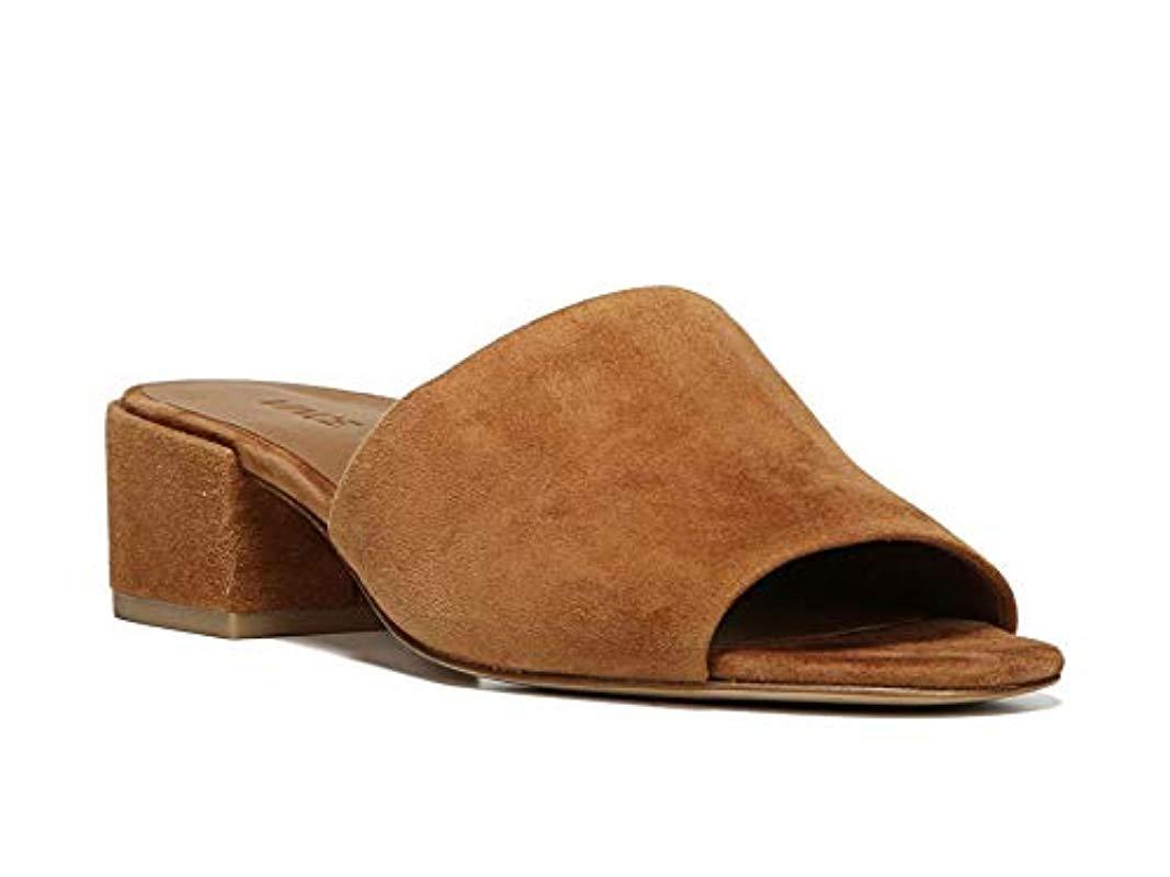 378f4c7f2c3 Lyst - Vince Rachelle Cedar Suede Dress Sandal in Brown - Save ...