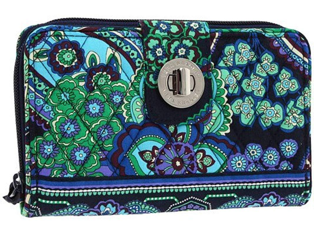 50aaface414a Lyst vera bradley turnlock wallet signature cotton in blue jpg 1067x800 Vera  bradley blue rhapsody garment