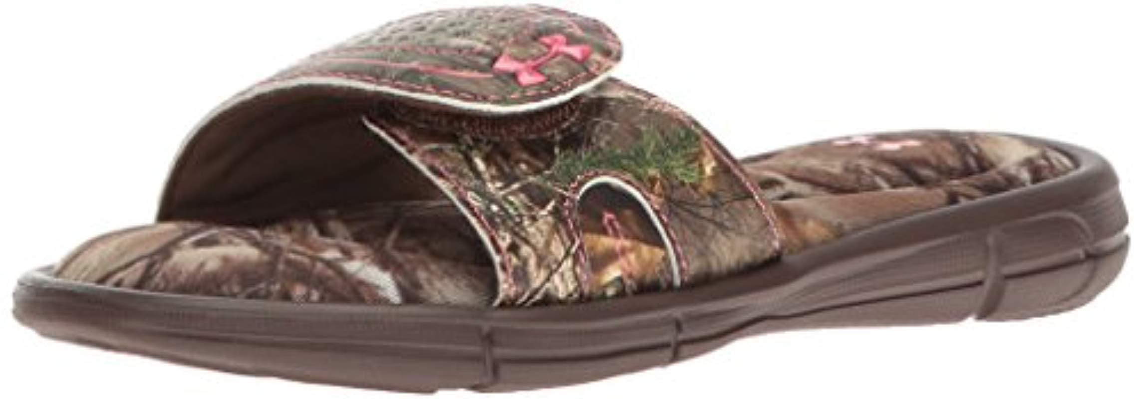 cec0c47d48fd Lyst - Under Armour Girls  Ignite Camo Vii Slide Sandal in Brown for Men