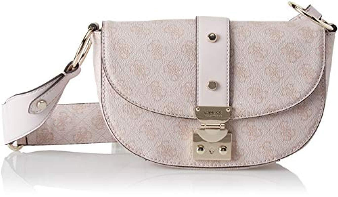 980df120dc Guess Florence Cross-body Bag in Pink - Lyst