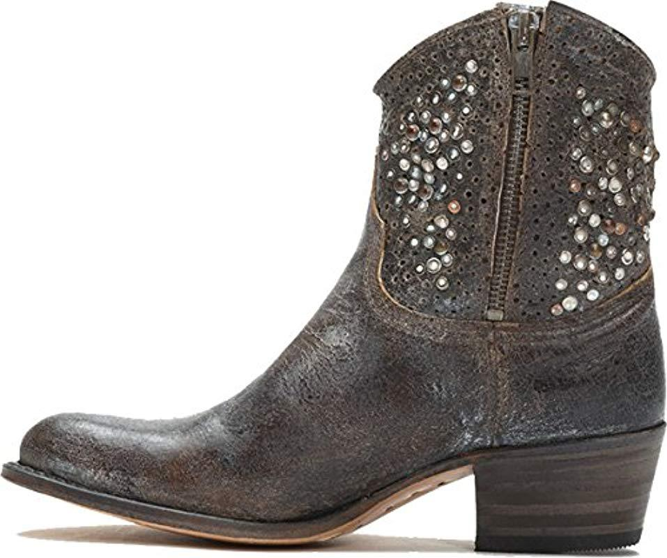 62bc7af60f26 Lyst - Frye Deborah Studded Ankle Boot in Brown