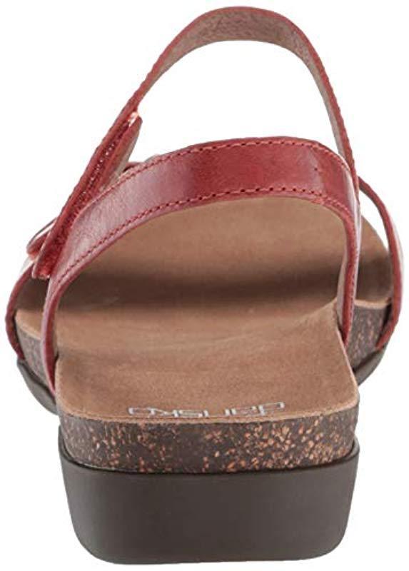 615ead535 Dansko Rebekah (navy Waxy Burnished) Women's Sandals - Lyst