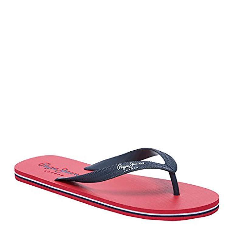 df6b37ec7870c6 Pepe Jeans Swimming 2.1 Flip Flops in Red for Men - Lyst