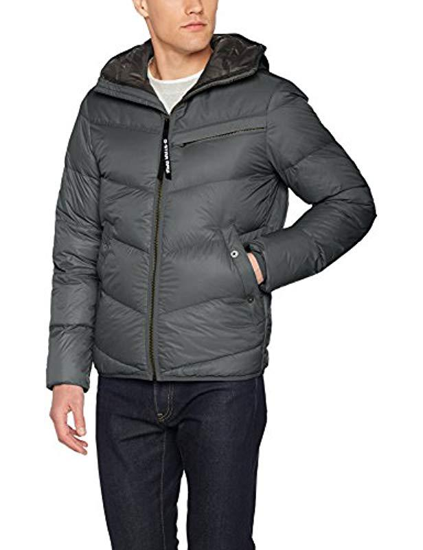 f934381d4b769 G-Star Raw Attacc Qlt Hdd Down Jkt Jacket in Gray for Men - Lyst