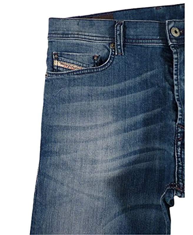 5521aa8e DIESEL - Blue Tepphar Straight Slim Leg Jean 0609r for Men - Lyst. View  fullscreen