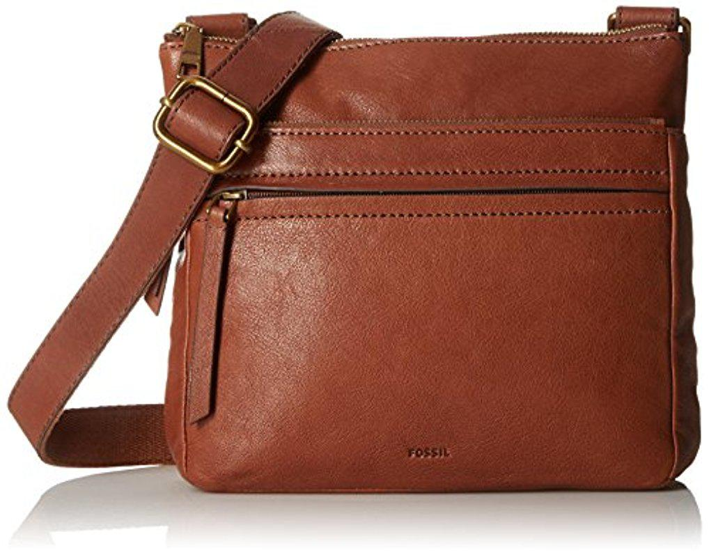 Lyst - Fossil Corey Crossbody-arctic Mist in Brown bb07e3be65