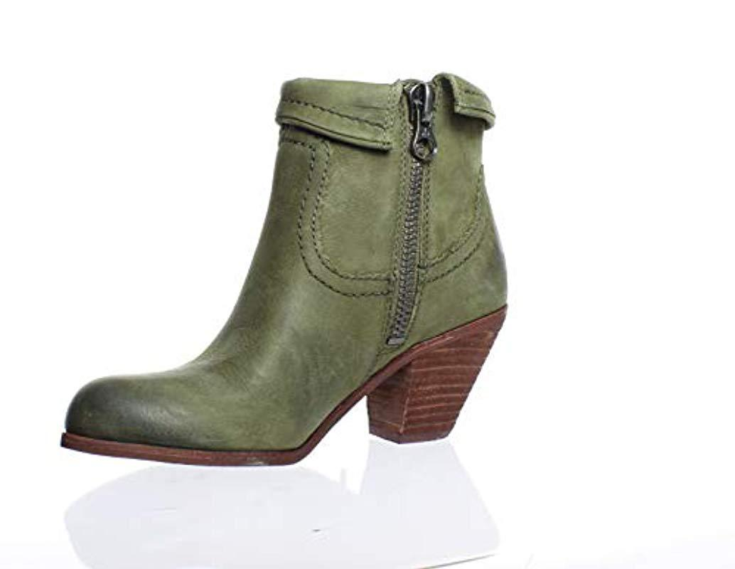 f340c5186895 Lyst - Sam Edelman Louie Fringe-trimmed Ankle Boot