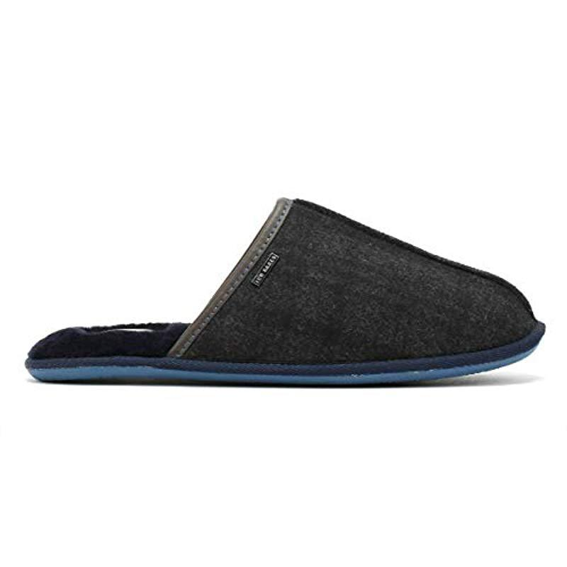 27a9ac03c31b1 Ted Baker Ayntin Open Back Slippers in Gray for Men - Lyst