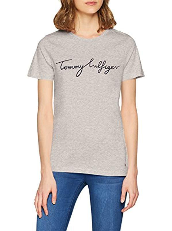 56653dfb Tommy Hilfiger Aila C-nk Tee Ss T-shirt in Gray - Lyst