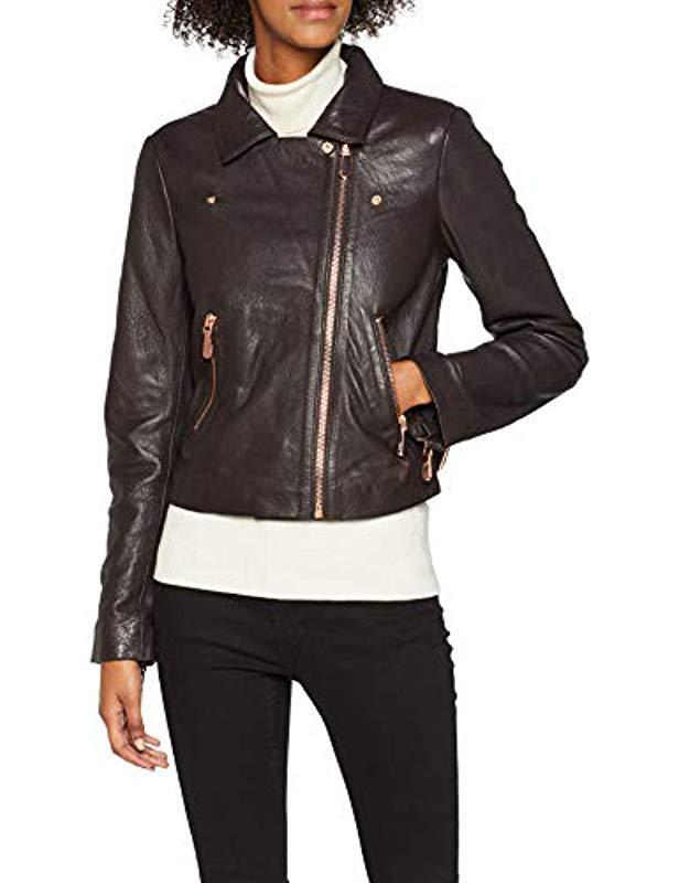 codice promozionale bb43e 20614 Women's Brown Giubbotti Filipa Leather Jacke Coat