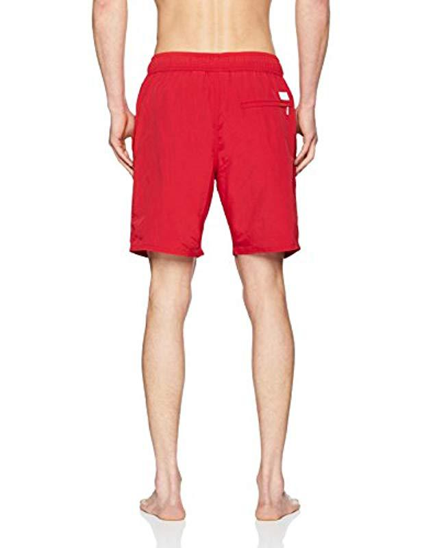 f683be7559 Timberland Sunapee Lake Solid Swim Trunks in Red for Men - Save 2% - Lyst