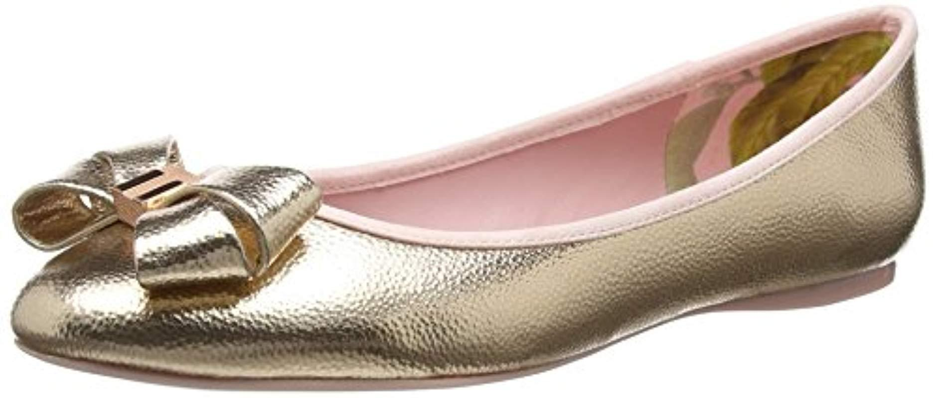 fa5933e52 Ted Baker   s Immet 2 Closed Toe Ballet Flats in Pink - Lyst