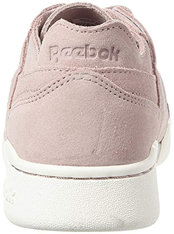 9878cf25559 Reebok - Pink Workout Lo Plus Fbt Trainers - Lyst. View fullscreen