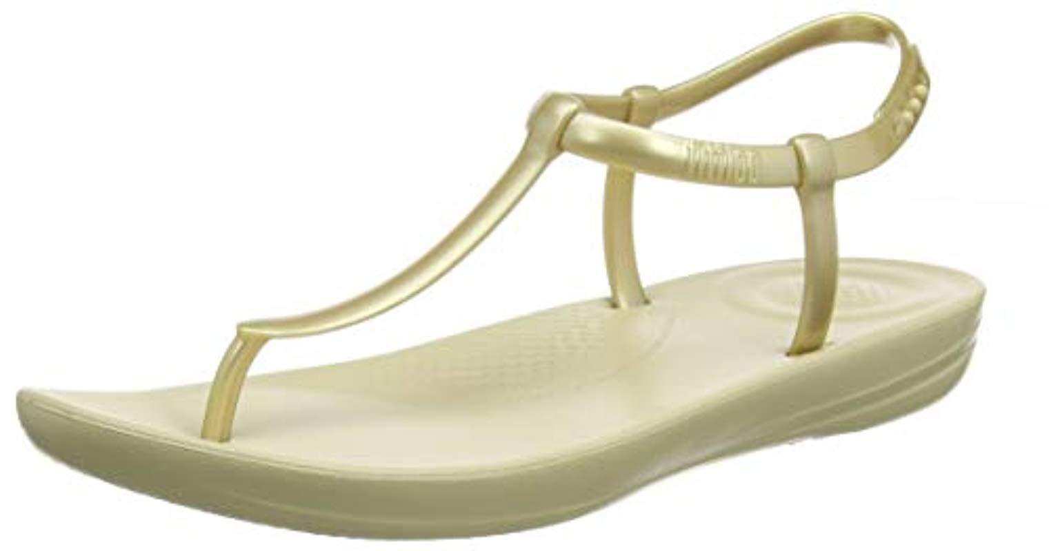 42fa5b9cdcdd Fitflop Iqushion Splash-pearlised Flip Flops in Metallic - Lyst