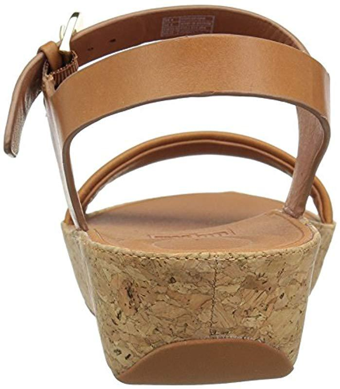 045cb42a209b Fitflop - Brown Bon Ii Back-strap Leather Open Toe Sandals - Lyst. View  fullscreen