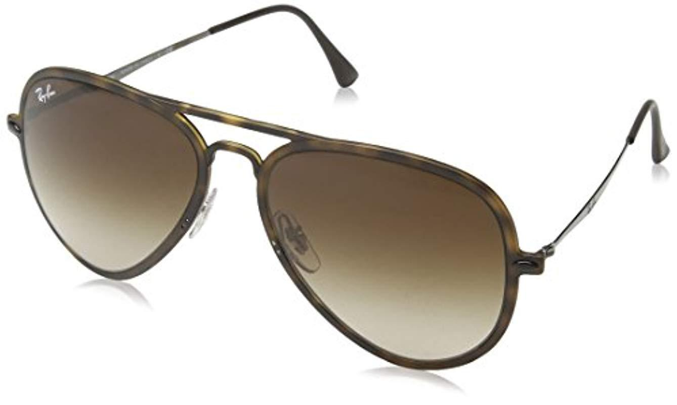 9f82aa0386b Ray-Ban Tech Light Ray Aviator Sunglasses In Matte Transparent Green ...