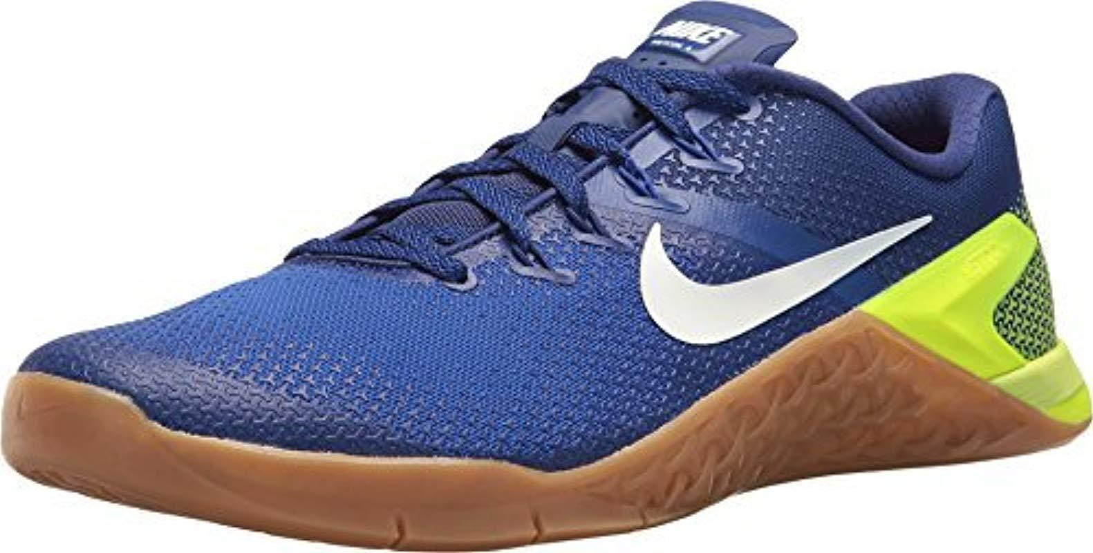 best service e5b94 64ae0 Nike Metcon 4 Competition Running Shoes in Blue for Men - Lyst