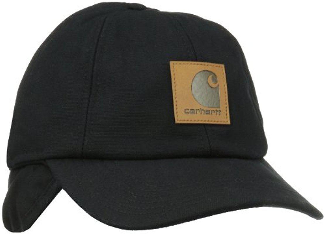 72f18a20776 Lyst - Carhartt Workflex Ear Flap Cap in Black for Men - Save 33%