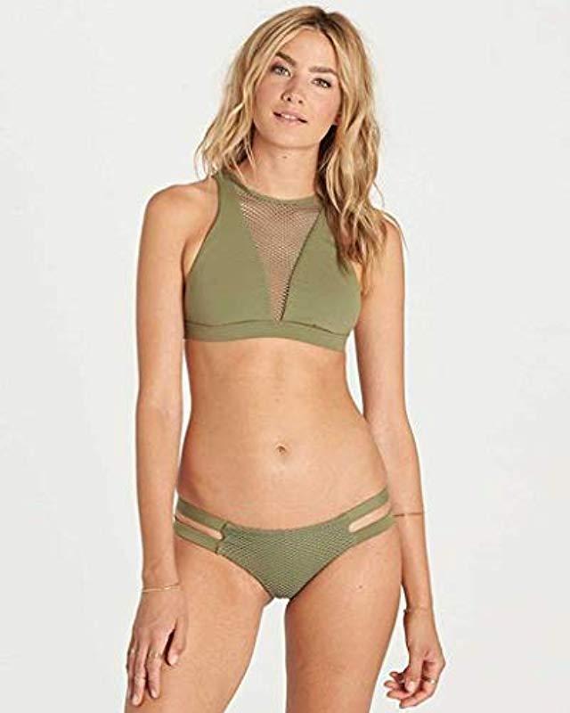355b0c3a226b Lyst - Billabong Meshin With You High Neck Bikini Top - Save 46%