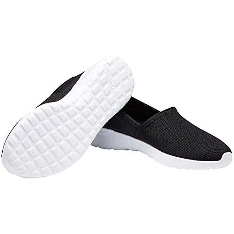 lyst adidas neo lite racer scivolare su w casual scarpe da ginnastica in nero