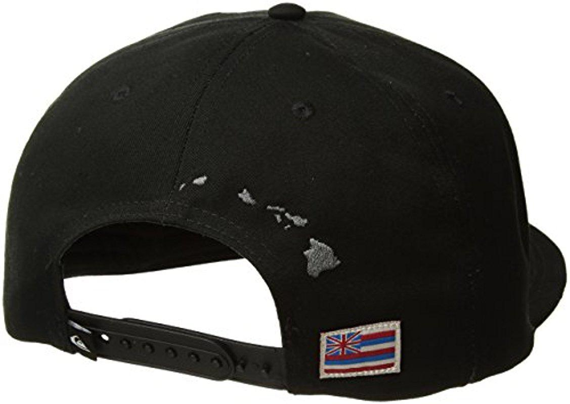 6db4151bec0 Lyst - Quiksilver State Of Aloha Trucker Hat in Black for Men