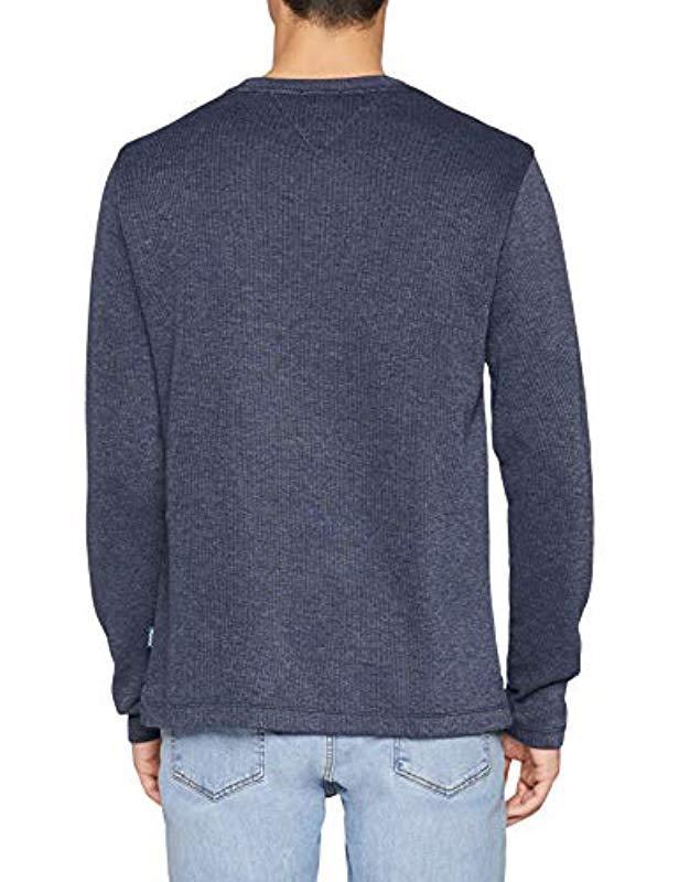b77bb6d0 Tommy Hilfiger Melange Long Sleeve Top in Blue for Men - Lyst