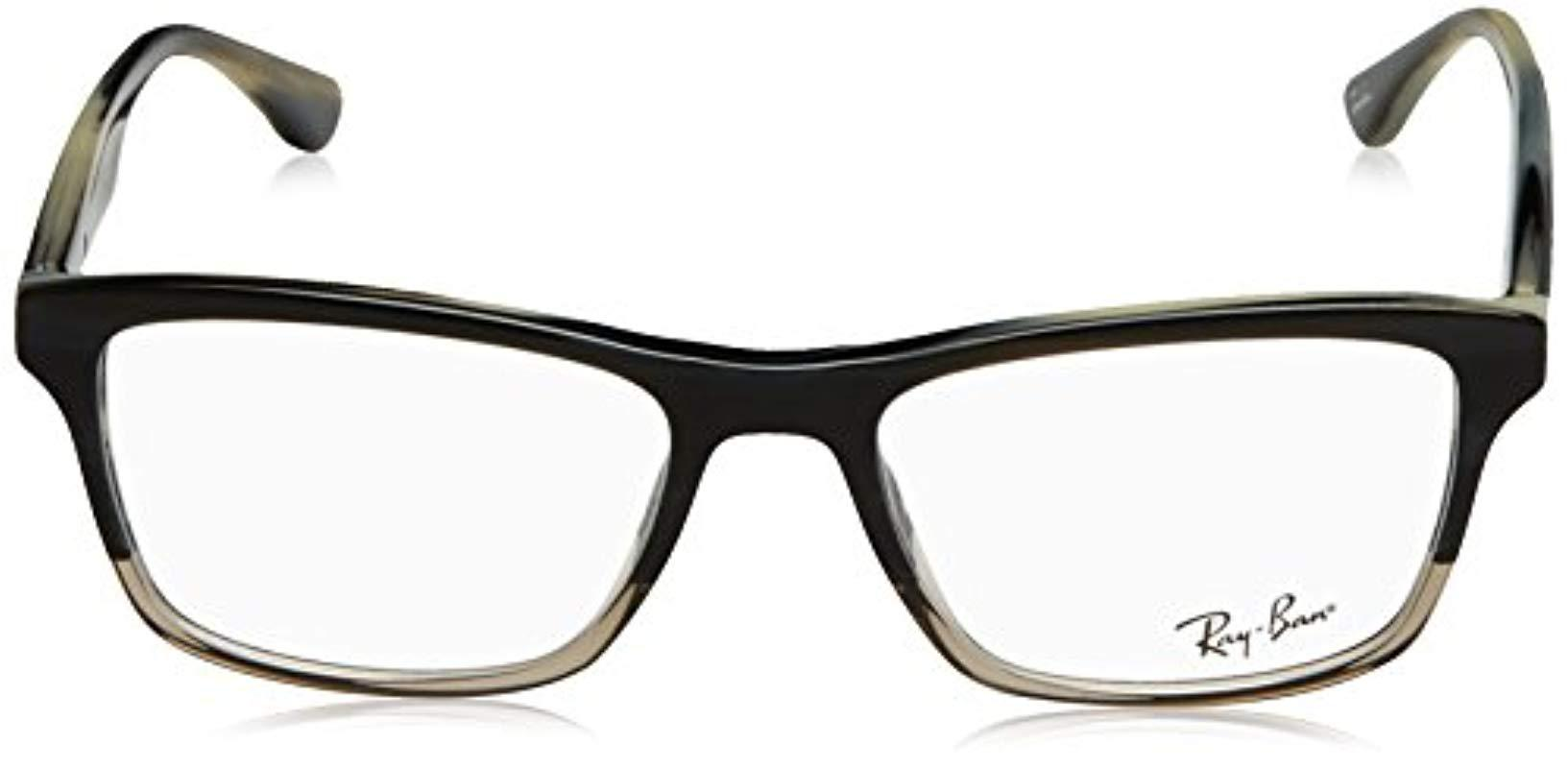d530a4864a Ray-Ban - Rx5279 Glasses In Shiny Black Rx5279 2000 53 for Men - Lyst. View  fullscreen