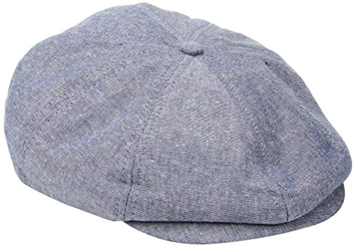 0bfe299f4ff Lyst - Brixton Brood Newsboy Snap Hat in Blue for Men