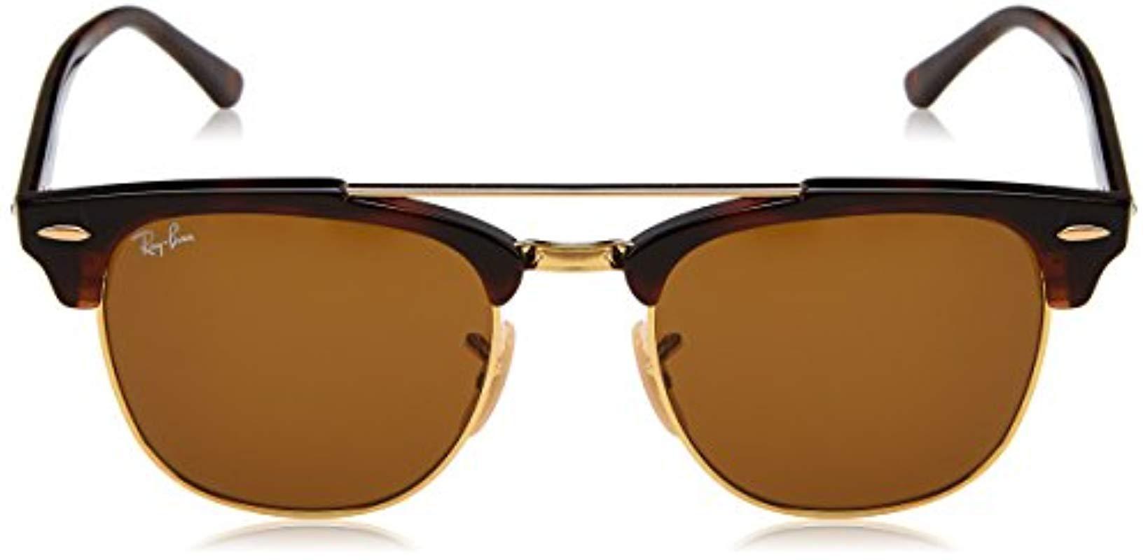 0cccfadc742 Ray-Ban - Clubmaster Double Bridge Sunglasses In Havana Brown Rb3816 990 33  51. View fullscreen