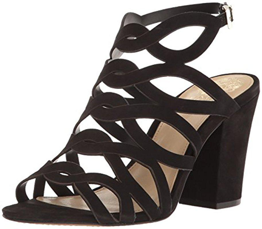 bfbeb0b27ea Lyst - Vince Camuto Norla Suede Dress Sandals in Black - Save 45%